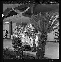 Japanese American children at temple dedication, Los Angeles, 1966