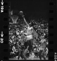 Lew Alcindor plays offense in UCLA basketball varsity-frosh game