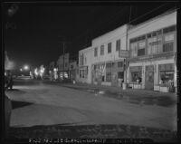 Street scene on Terminal Island (Calif.) on December 8, 1941