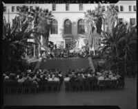 Los Angeles celebrates 166th anniversary at City Hall, 1947