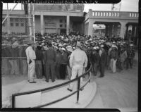 Mexican workers await legal employment in the United States, Mexicali (Mexico)