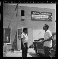 Cesar Chavez at National Farm Workers Association headquarters, 1966