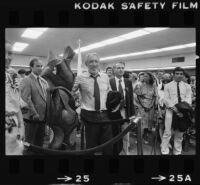 Anthony Quinn at the rededication of East Los Angeles Public Library