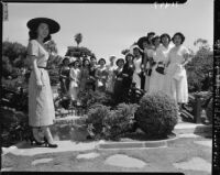 Nisei Festival Queen garden party, Los Angeles, 1951