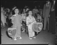 Moon festival lantern parade in Chinatown, Los Angeles (Calif.)