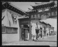 Street scene in Chinatown, Los Angeles (Calif.)