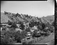 Hillside view of Chavez Ravine