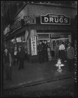 Street scene in Little Tokyo, Los Angeles, 1941