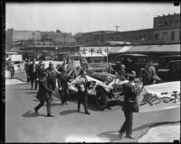 Funeral procession for Sun Yat-sen in Chinatown, Los Angeles (Calif.)