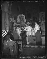 Communion at Plaza Church, Los Angeles, 1942-1952