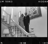 Mayor Tom Bradley and his wife pose in the Official Mayor's Residence