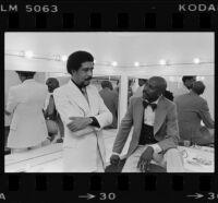 Richard Pryor and Lou Gossett backstage