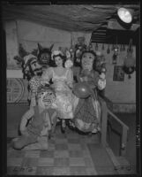 Costumes for a fiesta on Olvera Street, Los Angeles, 1953