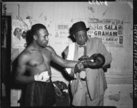 Duke Holloway and George Clemens prepare for Golden Gloves Tournament