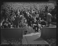Madame Chiang Kai-Shek with dignitaries at the Hollywood Bowl