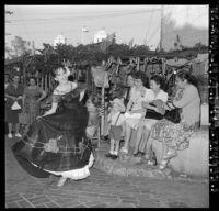 Cinco de Mayo festivities on Olvera Street, Los Angeles, 1962