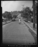 Street scene in Chavez Ravine, Los Angeles, 1947
