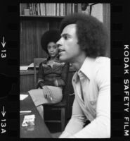 Huey Newton and Gwen Newton, portrait