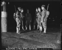 U.S. Army soldiers on Terminal Island (Calif.)