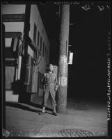 U.S. Army soldier on duty, Terminal Island (Calif.)