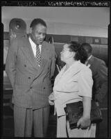 Paul Robeson and Charlotta Bass, circa 1949