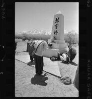 Buddhist ceremony at Manzanar War Relocation Center Memorial