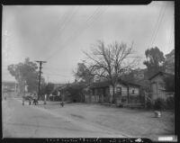 Street scene in Chavez Ravine, Los Angeles, 1950