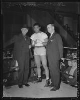 Joe Louis in the boxing ring