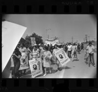 Chicano Moratorium Committee antiwar demonstrators, East Los Angeles, 1970