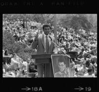 Muhammad Ali speaks at UCLA