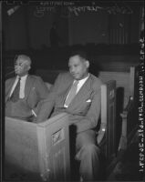 Paul Robeson awaits testimony before the Committee of Un-American Activities