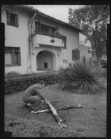 Ku Klux Klan cross burning incident, Los Angeles, circa 1946