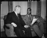 Kenny Washington and Governor Earl Warren