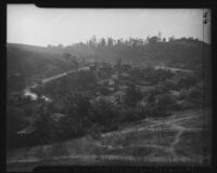 Hillside view of Chavez Ravine, Los Angeles, 1946
