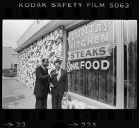Mayor Tom Bradley and David Cunningham
