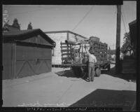 Japanese man evacuates from Terminal Island (Calif.)