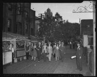 Tourists on Olvera Street, Los Angeles, 1949