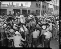 Mexican workers riot at the United States-Mexico border, Mexicali (Mexico)