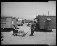 Japanese American children in temporary post-war housing