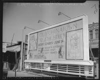 Old Chinatown billboard, Los Angeles (Calif.)