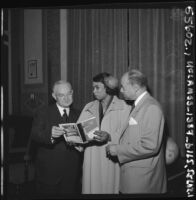 Mayor Fletcher Bowron, Marian Anderson, and the Reverend Baxter Duke