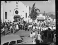 Procession outside of Our Lady of Guadalupe Church, Los Angeles, 1952