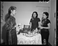 Los Angeles Chinese Women's Club members, Los Angeles, 1951