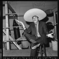 Ruben Olivares at press conference in Los Angeles (Calif.)