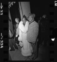 Redd Foxx and his wife, portrait