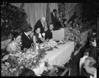Madame Chiang Kai-shek at a banquet in Los Angeles (Calif.)