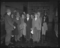 Japanese, German, and Italian detainees, California, 1941