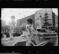 Nisei Week Festival parade float in Little Tokyo, Los Angeles, 1971