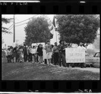 Chicano Moratorium Committee anti-war demonstrators gather