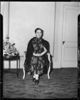 Madame Chiang Kai-shek, seated portrait